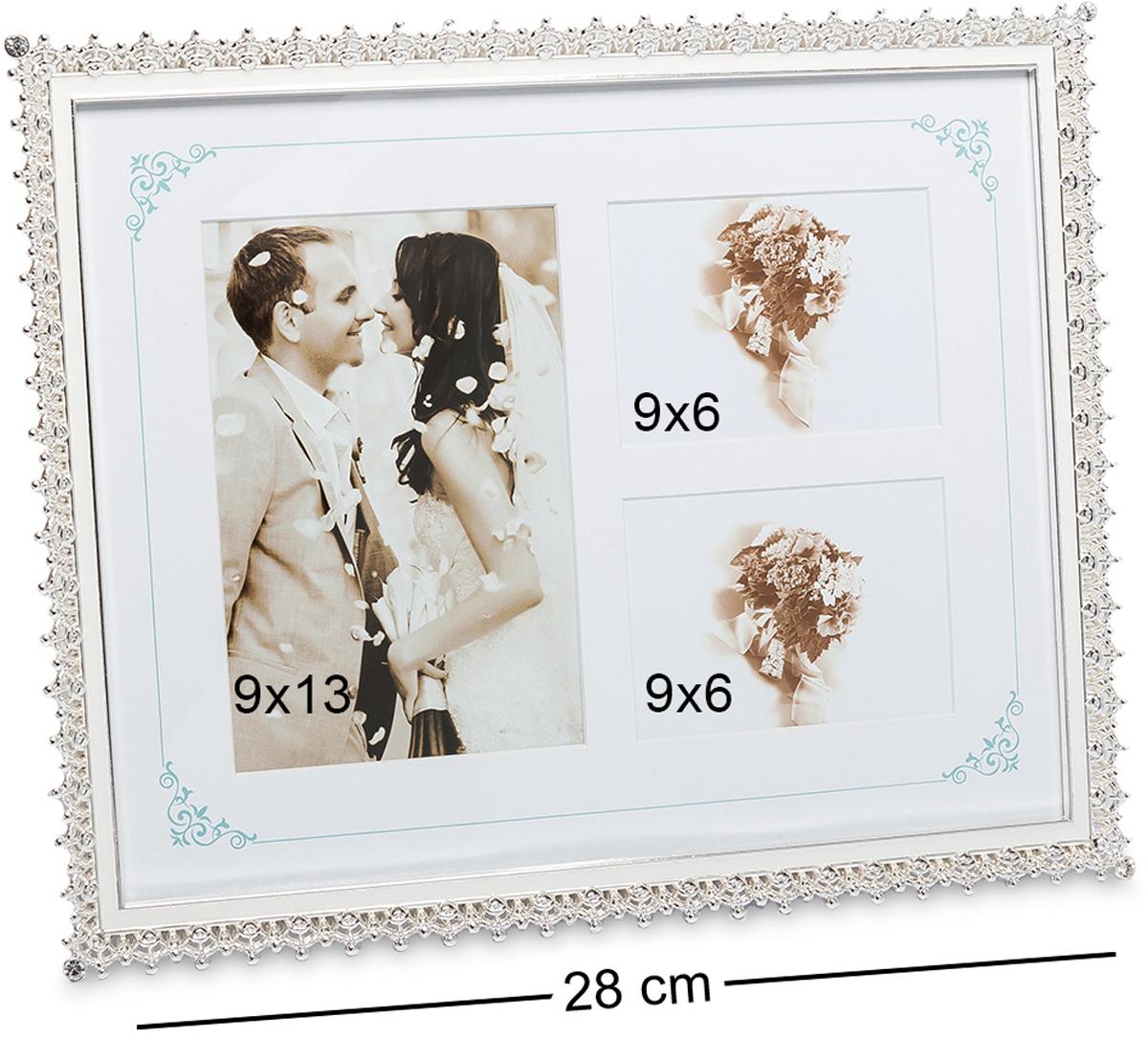 Фоторамка Bellezza Casa Мгновения любви, на 3 фото: 9х13, 9х6. CHK-172CHK-172Фоторамка для влюблённых изготовлена из фарфора и текстиля. На текстильной основе можно расположить до трёх фото, сделав компактную и красивую фотоподборку на память. Одна или две фотографии также будут прекрасно смотреться в такой рамке. Блестящий фарфор создаёт стильный и оригинальный вид. Фоторамка для фотографий 9х13 и 9х6 см.