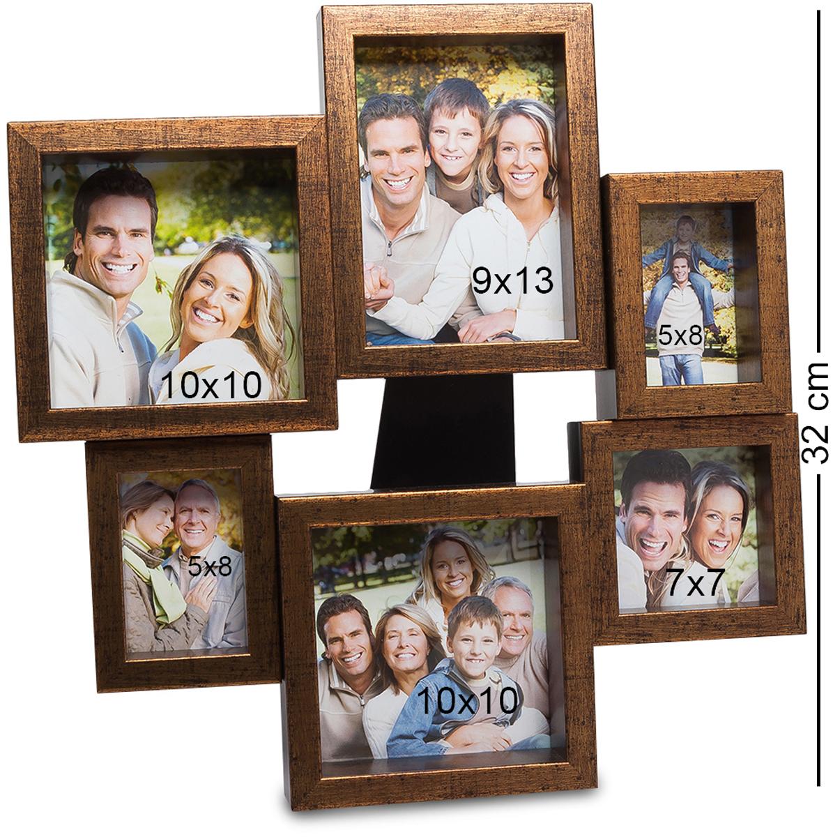 Панно из фоторамок Bellezza Casa Семейный винтаж, на 6 фото: 9х13, 5х8, 7х7, 10х10. CHK-204CHK-204Панно из фоторамок на 6 фото для фотографий 9х13, 5х8, 7х7 и 10х10 см. Фотографии обладают уникальным свойством сохранять памятные моменты семейной истории на долги годы, и даже спустя десятки лет вы можете взглянуть на снимок и заново мысленно пережить уже давно ушедшее время. Семейные снимки, стоящие на столике или в шкафу - это то, без чего невозможно представить себе дом любой семьи. Фоторамка-панно Семейный винтаж - это не одна рамка для фотографии, а целых 6, соединенных в единое целое. Рамки имею разный размер и форму, но вместе выглядят необычно и здорово. Сохраните самые важные моменты вашей жизни с помощью рамки Семейный винтаж, и они будут неподвластны времени.