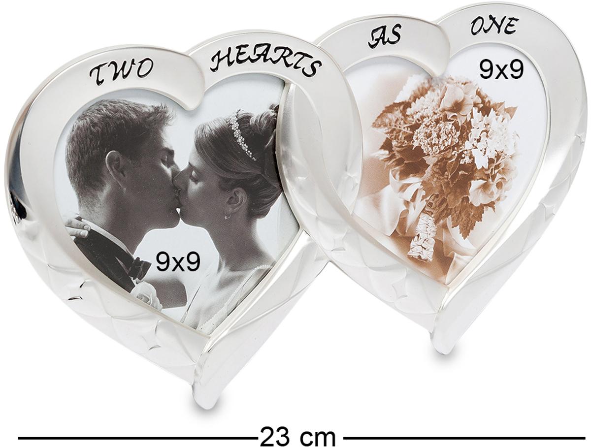 Фоторамка Bellezza Casa Влюбленные сердца, на 2 фото: 9х9. CHK-013CHK-013Фоторамка Сердечко на 2 фото для фотографий 9х9 см. Фоторамка Влюбленные сердца изготовлена из фарфора, покрытого сверху серебряной краской. Two hearts as one - Два сердца в одном. Удивительная рамка, которая станет отличным подарком молодоженам или на годовщину свадьбы. Красивые гладкие формы, изящный внешний вид. Рамка в виде пары сердец станет украшением для спальни и зала. Металлизированный внешний вид гармонично впишется в современный интерьер.