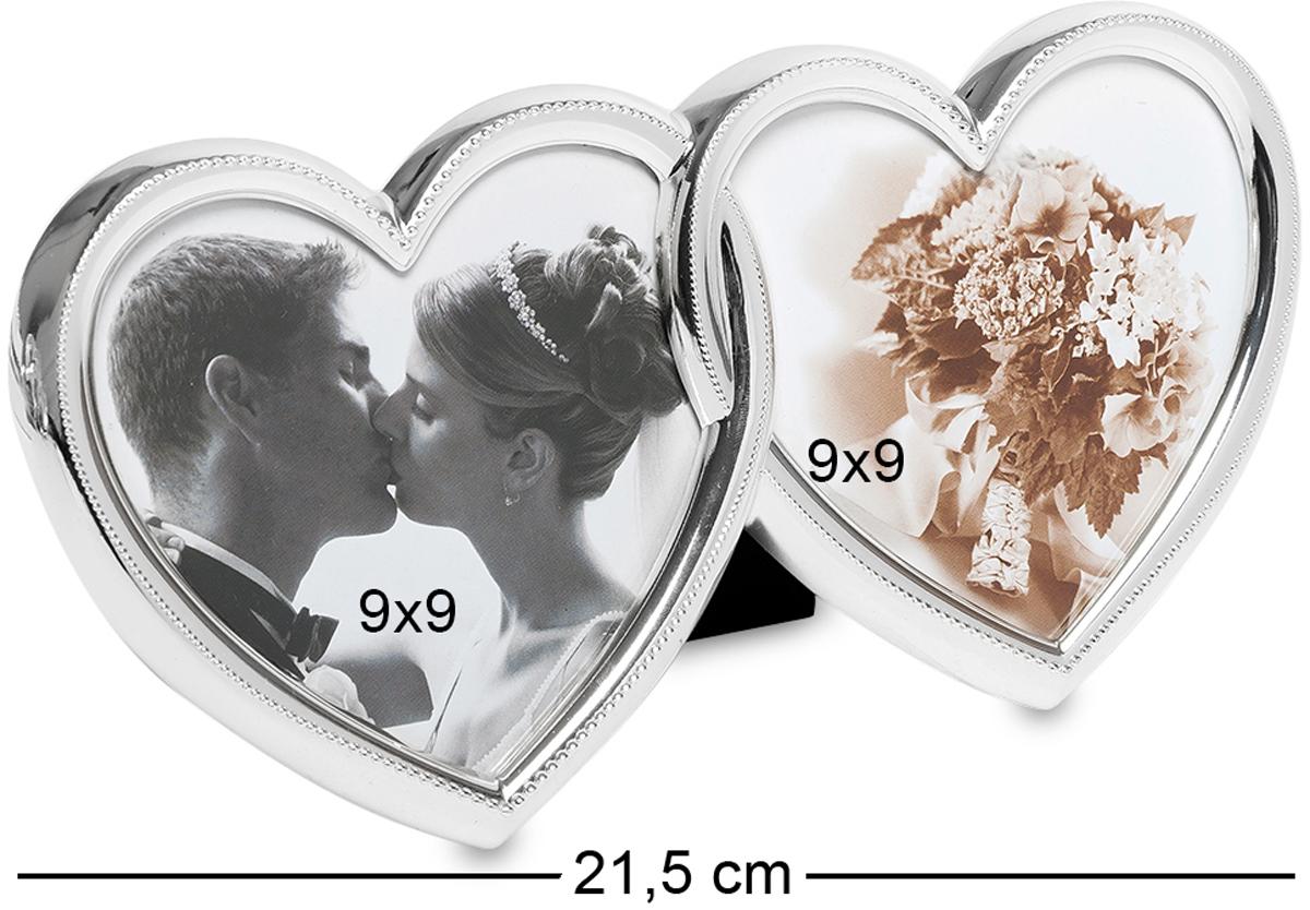 Фоторамка Bellezza Casa Влюбленные сердца, на 2 фото: 9х9. CHK-057CHK-057Фоторамка Сердце на 2 фото для фотографий 9х9 см. В период романтических отношений все всегда воспринимается по-особенному. В этот период все желают сделать приятно своим половинкам. Влюбленные пары делают множество фотографий, которыми в итоге постоянно любуются. Поэтому, мы все часто желаем, чтобы фотографии были, красиво оформлены не в обычные фоторамки, а в неординарные, удивительно красивые рамочки. А в особенности, если фото символические, то и преподнести их хочется каким-то необычным образом. Фоторамка Влюбленные сердца прекрасно подойдет для этой цели. Во-первых, она необычайно красива по своему оформлению. Чего только стоит форма рамочки. А во-вторых, как удивительно красиво смотрятся маленькие камешки по ободку сердец. Она, несомненно, украсит собой любую фотографию.