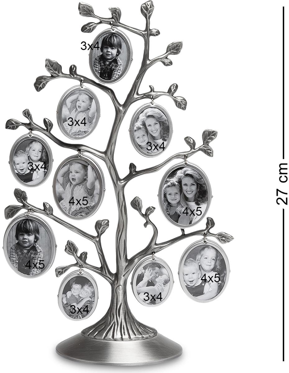 Фоторамка Bellezza Casa Семейное Дерево, на 10 фото: 4х5, 3х4. CHK-095CHK-095Фоторамка Дерево на 10 фото для фотографий 4х5 и 3х4 см. Фоторамка Семейное Дерево - это превосходный подарок как для всей семьи, так и для одного человека. Представьте, в эту рамку вы можете вставить 10 небольших фотографий, которые будут отображать разные моменты вашей жизни! Вы можете вставить туда фотографию своего ребенка, и добавлять их по мере того, как он будет расти. В итоге, когда ребенок вырастет, у вас будет целое дерево фотографий, где будут запечатлены все его этапы взросления! Фоторамка изготовлена из металла, поэтому она прослужит вам долгую жизнь, и с ней, как и со снимками, ничего не случится.