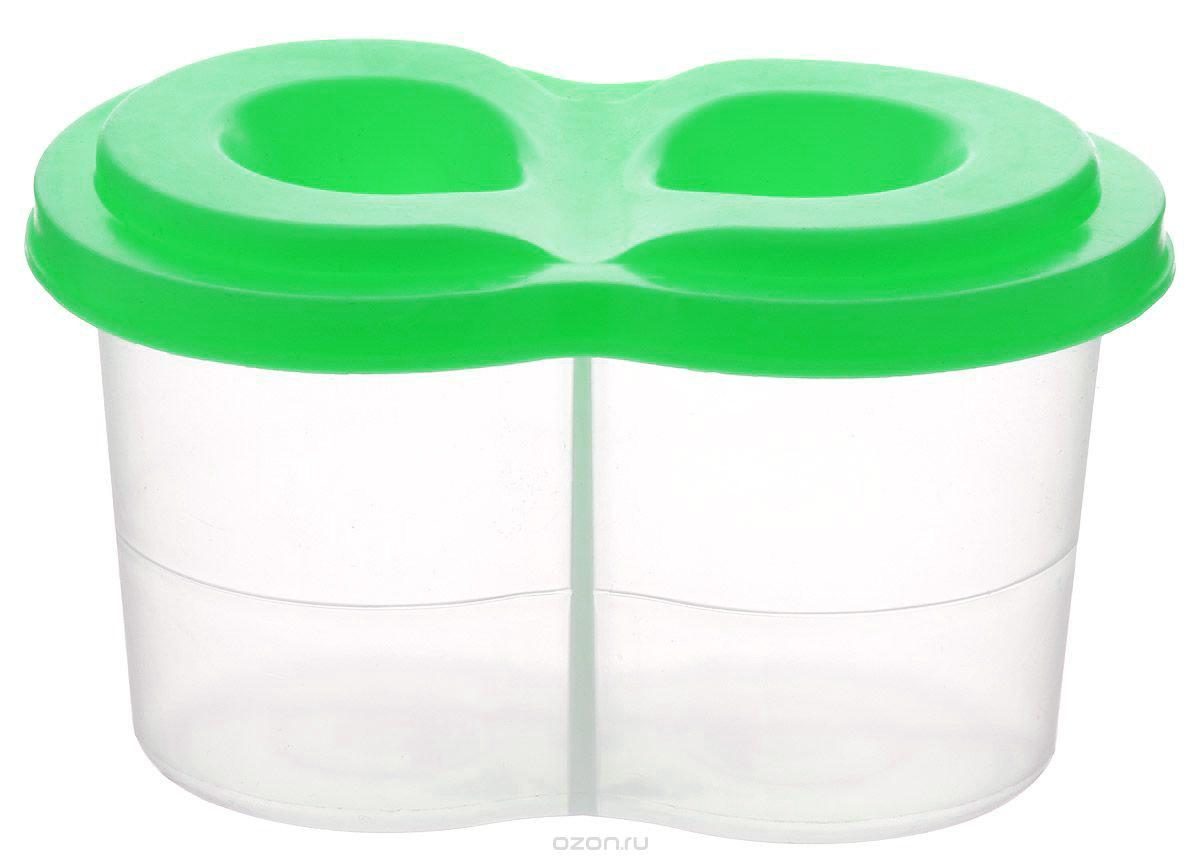 Луч Стакан-непроливайка двойной цвет салатовый