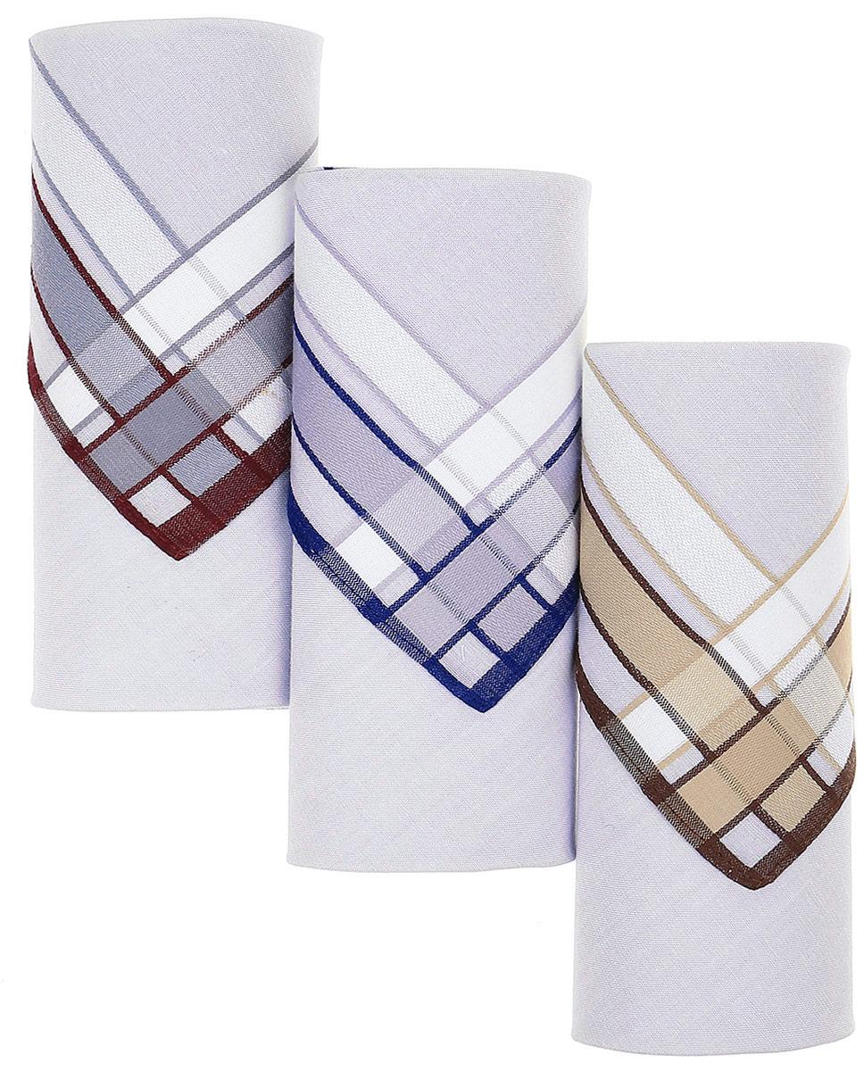 Платок носовой мужской Zlata Korunka, цвет: мультиколор, 3 шт. М55Д. Размер 43 х 43 смМ55ДЖенские носовые платки Zlata Korunka изготовлены из натурального хлопка, приятны в использовании, хорошо стираются, материал не садится и отлично впитывает влагу. В упаковке 3 штуки.
