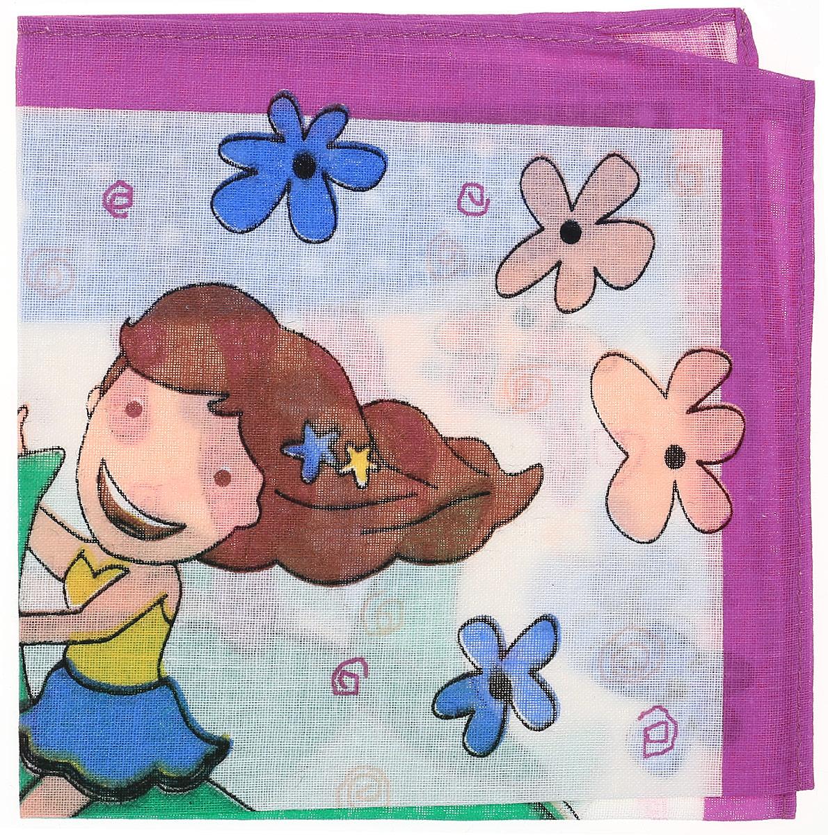 Платок носовой детский Zlata Korunka, цвет: мультиколор, 45453. Размер 27 х 27 см45453_мультиколорДетский носовой платочек Zlata Korunka изготовлен из натурального хлопка, приятен в использовании, хорошо стирается, материал не садится и отлично впитывает влагу. Оформлен платок интересным цветочным принтом с изображением девочки.