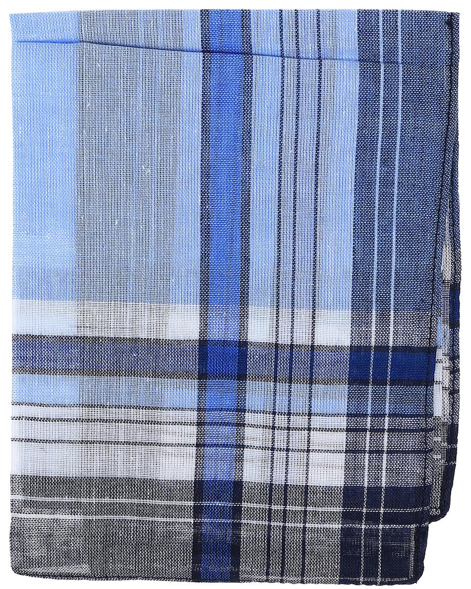 Платок носовой мужской Zlata Korunka, цвет: синий, голубой. 45449. Размер 27 х 27 см45449_синий, голубойМужской носовой платой Zlata Korunka изготовлен из натурального хлопка, приятен в использовании, хорошо стирается, материал не садится и отлично впитывает влагу. Оформлена модель принтом в полоску.