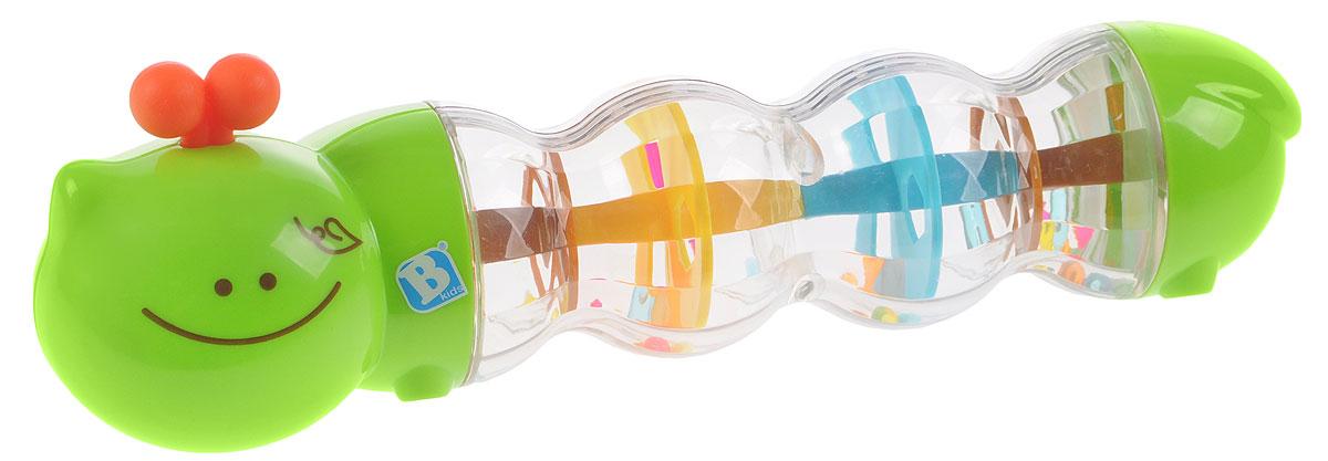 B kids Развивающая игрушка Гусеничка с шариками004426Развивающая игрушка B kids Гусеничка с шариками - это красивая погремушка с прозрачными секциями. Дружелюбная гусеница будет издавать гремящие звуки, если ее потрясти. Внутри гусеницы перекатываются маленькие разноцветные шарики. Благодаря прозрачным сегментам в теле гусеницы ребенок может наблюдать, как шарики высыпаются с одного цветного уровня на другой - очень занимательно. Для детей от 3 месяцев. Не содержит бисфенол А.