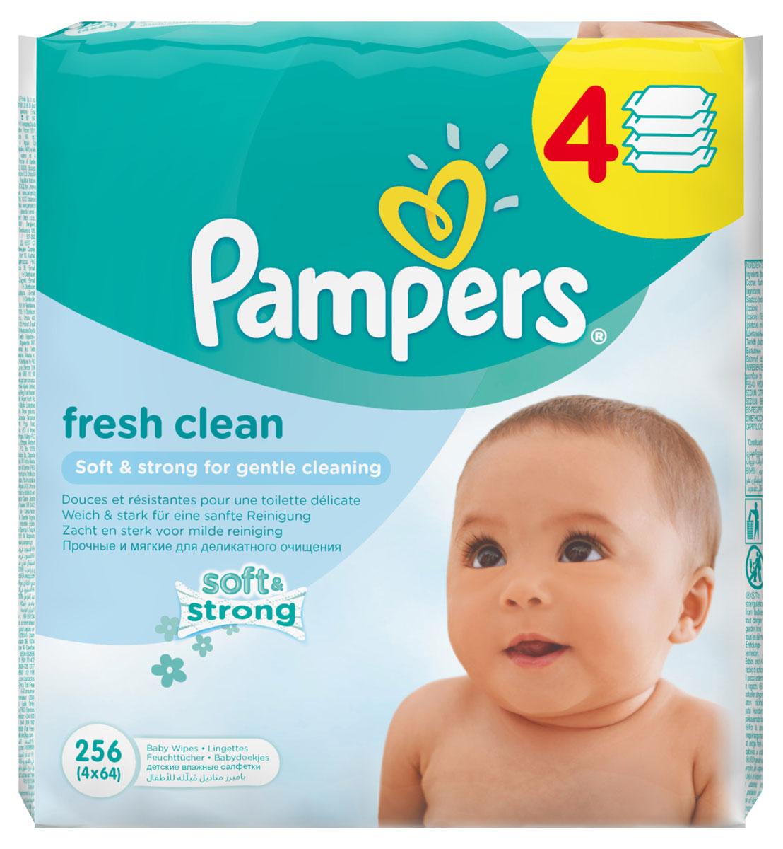 Pampers Детские влажные салфетки Baby Fresh Clean 256 штPA-81551132Каждый малыш нуждается в нежном очищении, именно поэтому влажные салфетки Pampers Baby Fresh с дополнительным увлажнением позволяют бережно заботиться о детской коже. Благодаря своей уникальной мягкой текстуре SoftGrip, они очищают кожу малыша еще нежнее, чем раньше, поддерживая естественный уровень pH, облегчая мамам смену подгузника. Не бойтесь сюрпризов с Pampers Baby Fresh! В упаковке 256 салфеток.