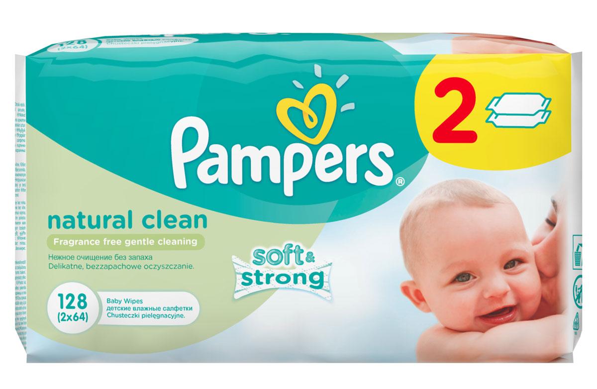 Pampers Детские влажные салфетки Natural Clean 128 штPA-81448785Забота и любовь - это то, что требуется малышам каждый день. Именно поэтому Pampers Natural Clean с дополнительным увлажнением позволяют бережно заботиться о детской коже. Благодаря своей уникальной мягкой текстуре SoftGrip, они очищают кожу малыша еще нежнее, чем раньше, поддерживая естественный уровень pH. Не бойтесь сюрпризов с Pampers Natural Clean!