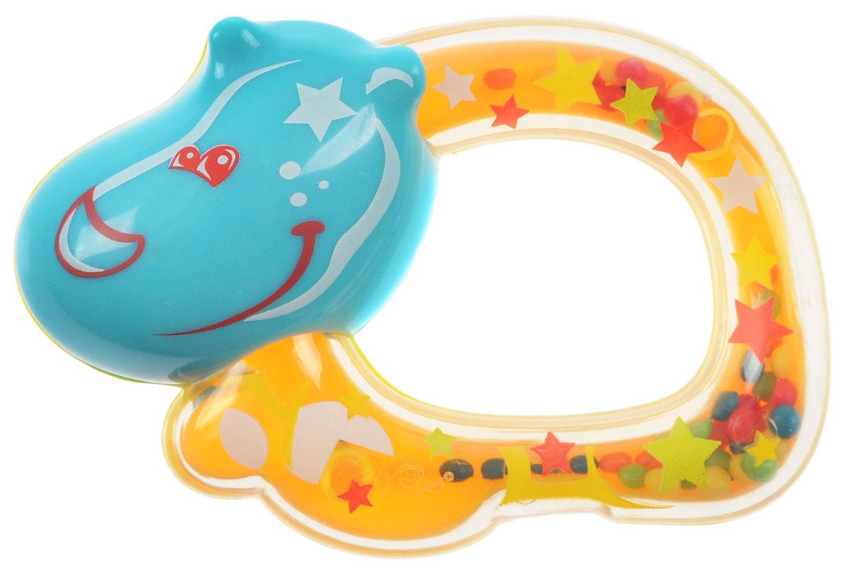 BabyOno Погремушка Бегемотик цвет желтый1379_бегемотикПогремушка BabyOno Бегемотик развивает осязательные, зрительные и двигательные способности, учит причинно-следственным связям. Погремушка учит различать формы и цвета. Звуки погремушки развивают способность различать силу звука. Погремушка развивает моторику и мануальные способности ребенка, навыки захвата ладонью и перекладывания предметов из руки в руку. Одна сторона погремушке выполнена из прозрачного материала. Благодаря этому, можно видеть, как внутри перекатываются яркие маленькие шарики. Легкая конструкция погремушки и ее форма рассчитаны специально для маленьких ручек ребенка. Не содержит бисфенол А.
