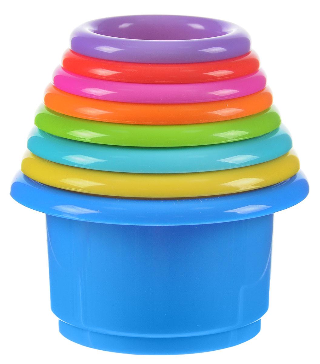 B kids Набор игрушек для песочницы Формочки 8 шт063146BНабор игрушек для песочницы B kids Формочки - незаменимый аксессуар для игры в песочнице. В комплект входят 7 пластиковых стаканчиков, с помощью которых можно построить куличики разного размера из песка. Помимо разного диаметра, формочки различаются цветом, а также рельефным рисунком: на дне каждой из них есть изображение определенного животного. Подходят такие стаканчики и для игр в ванной: в их донышках есть маленькие дырочки, через которые может выливаться вода. А еще из них можно строить пирамидку: для этого формочки устанавливаются одна на другую вверх дном. Предназначено для детей старше 9 месяцев.