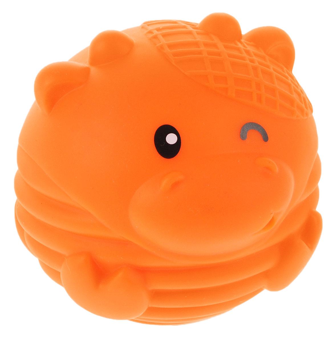 B kids Развивающая игрушка-пищалка Коровка905177_оранжевыйВсе дети любят развлечения с мячами. Развивающая игрушка-пищалка B kids Коровка - больше, чем просто мяч. Этот приятный на ощупь шар выполнен в виде симпатичной зверюшки. Его поверхность покрывают рельефные выпуклости, ощупывая которые ребенок развивает тактильные ощущения. Кроме того, шар издает звук, который очень нравится малышам. Предназначено для детей от 6 месяцев.