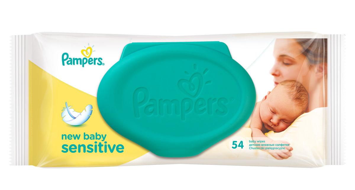 Pampers Детские влажные салфетки New Baby Sensitive 54 штPA-81491726Ваш новорожденный малыш нуждается в нежном очищении, именно поэтому влажные салфетки Pampers New Baby Sensitive мягче, чем вода с полотенцем. Благодаря своей уникальной мягкой текстуре SoftGrip и дополнительному увлажнению, они очищают кожу малыша еще нежнее, чем раньше, поддерживая естественный уровень pH. Чтобы салфетки Pampers оставались влажными как можно дольше, а мамам было удобно открывать и закрывать упаковку, добавлена специальная крышечка для многоразового использования. Не бойтесь сюрпризов с Pampers New Baby Sensitive!