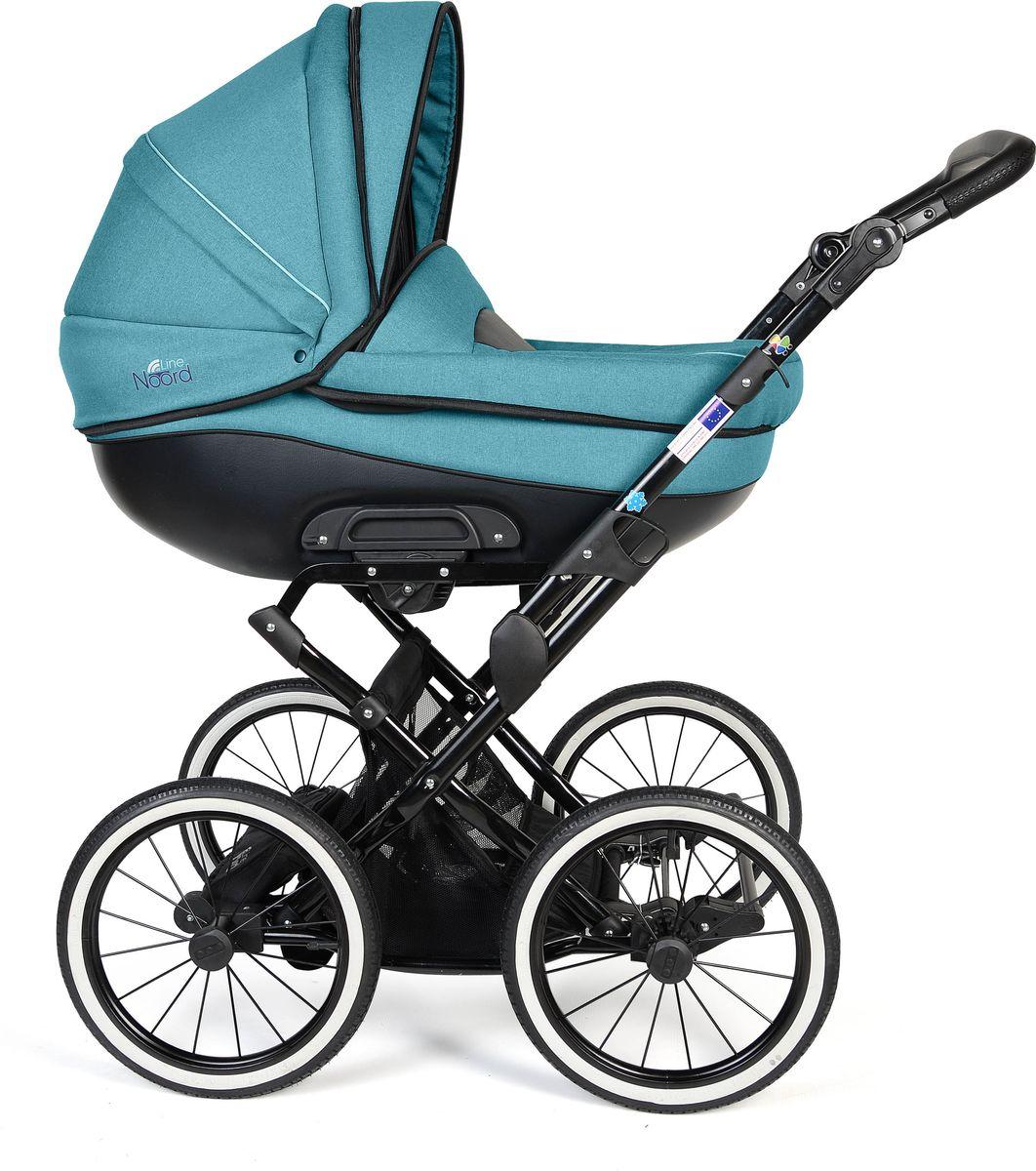 Noordline Коляска универсальная 2 в 1 Оlivia Classic цвет голубойNL-OL2-CL-AQМодель коляски на классическом шасси с ременной амортизайцией- самой мягкой на сегодняшний день. Ремни позволяют раскачивать коляску в разных направлениях (вдоль и поперёк) и быстро укачивать малыша, что особенно важно для новорожденных. Этот всесезонный вездеход рекомендуется детям с рождения до 3 лет. Большие надувные колеса легко снимаются, как и люлька с сиденьем, если необходимо сложить шасси для дальнейшей транспортировки в багажнике либо в руке одного из родителей. Преимущества данной модели перед колясками другого производителя: Надувные колеса-вездеходы, не требующие постоянной подкачки. Достаточно одного-двух раз в год проводить подкачку с помощью подручного насоса, включая велосипедный. Крепкая металлическая рама устойчива к химическим реагентам, которыми посыпаются городские улицы. Обивка люльки и сиденья материалом, который легко чистится. Текстиль внутри крепится с помощью кнопок и может быть снят при первой необходимости. Современный внешний...