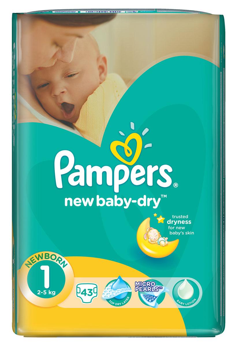 Pampers Подгузники New Baby-Dry 2-5 кг (размер 1) 43 штPA-81499846Для каждого доброго утра нужно, до 12 часов сухости ночью. Вот почему подгузники Pampers New Baby-Dry имеют жемчужные микрогранулы, которые впитывают влаги до 30 раз больше собственного веса и надежно удерживают ее внутри подгузника. Просыпайтесь радостно каждое утро с подгузниками Pampers New Baby-Dry. - Мягкий, как хлопок, уникальный верхний слой моментально впитывает влагу с кожи. - Жемчужные микрогранулы впитывают влаги до 30 раз больше собственного веса. - Экстра слой абсорбирует жидкость и распределяет ее по подгузнику. - Тянущиеся боковинки разработаны, чтоб малышу было комфортно двигаться, а подгузник сидел плотно.