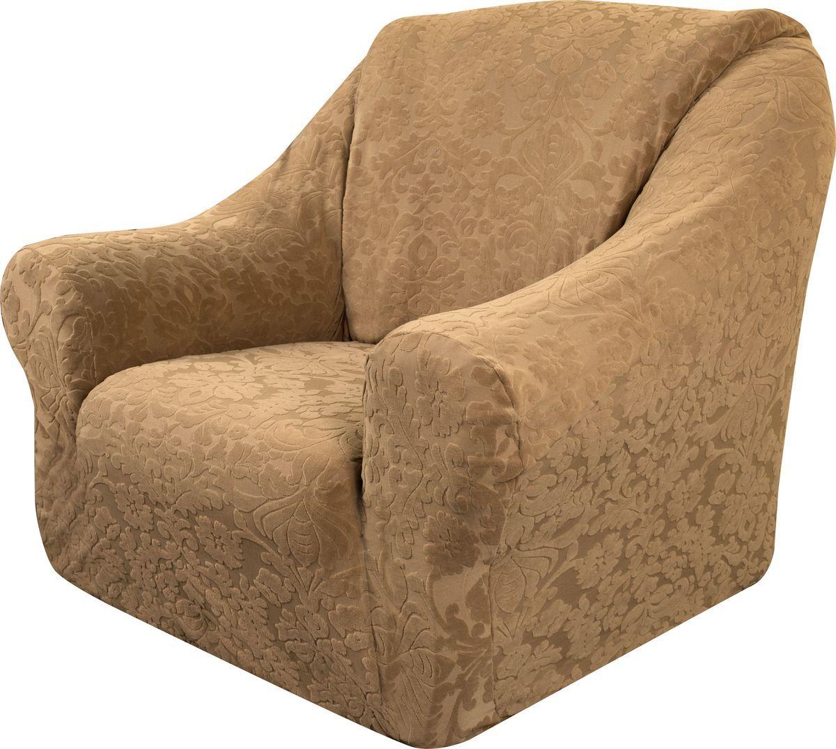 Чехол на кресло Медежда Челтон, цвет: бежевый1401051103000Универсальный чехол на кресло изготовлен из стрейчевого жаккарда. Элегантный выпуклый рисунок прекрасно подходит к интерьеру как в классическом, так и в современном стиле. Тактильное наслаждение, вызываемое тканью, сочетается с эластичностью. Чехол красиво облегает формы мебели и выглядит как дорогая обивка, выполненная на заказ. Он легко растягивается и подходит для большинства стандартных кресел
