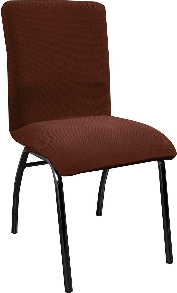 Чехол на стул Медежда Бирмингем, цвет: шоколадный1408031111002Чехол на стул из коллекции Бирмингем изготовлен из стрейчевого велюра. Поверхность велюра приятно для прикосновений. Сочетание нежности и прочности - визитная карточка велюра. Вещи из него даже спустя много лет смотрятся, как новые. Велюр - по праву один из уверенных лидеров среди мебельных тканей.Тонкий геометрический дизайн добавляет уют помещению. Чехол легко растягивается и хорошо принимает форму стула.