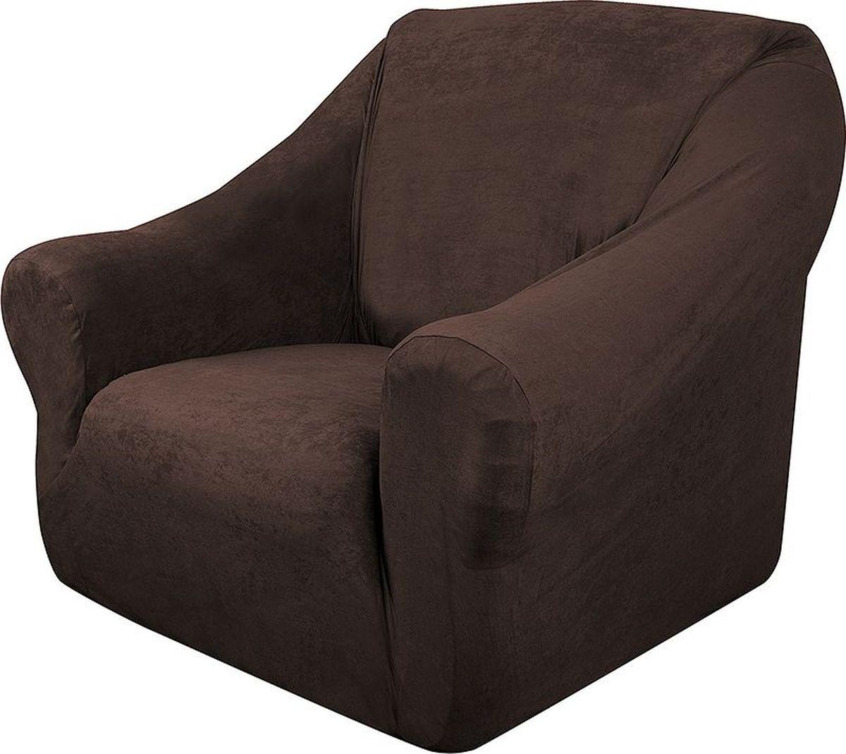 Чехол на кресло Медежда Лидс, цвет: шоколадный1401071111000Чехол изготовлен из искусственной замши, очень приятен на ощупь, легко растягивается и выглядит почти как новая обивка дивана, подходит для большинства стандартных диванов с шириной спинки от 85 до 105 см. Искусственная замша сочетает в себе изящество, стиль и характерные эффекты натуральной замши с прочностью, износостойкостью и фантастическими техническими характеристиками самых современных материалов.По внешнему виду современные искусственные аналоги практически неотличимы от натуральной замши, имеют максимальное визуальное сходство и создают неповторимое ощущение теплоты и пространства.