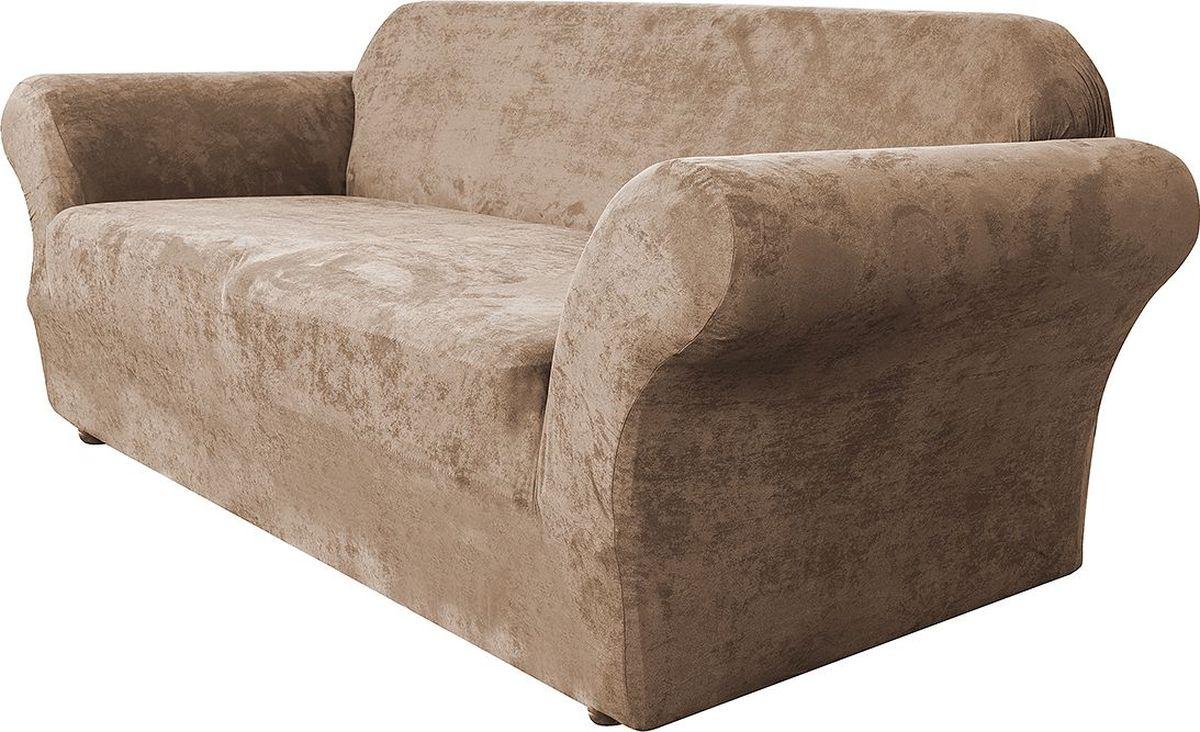 Чехол на диван Медежда Лидс, трехместный, цвет: бежевый1403071103000Чехол изготовлен из искусственной замши, очень приятен на ощупь, легко растягивается и выглядит почти как новая обивка дивана, подходит для большинства стандартных диванов с шириной спинки от 185 до 235 см. Искусственная замша сочетает в себе изящество, стиль и характерные эффекты натуральной замши с прочностью, износостойкостью и фантастическими техническими характеристиками самых современных материалов.По внешнему виду современные искусственные аналоги практически неотличимы от натуральной замши, имеют максимальное визуальное сходство и создают неповторимое ощущение теплоты и пространства.