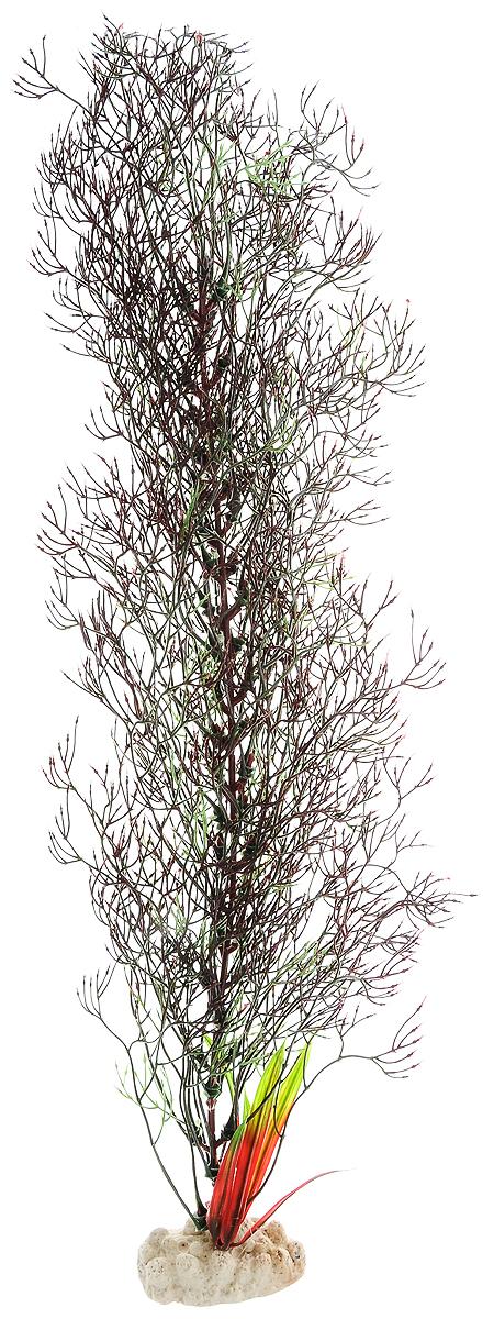 Растение для аквариума Barbus Горгонария, пластиковое, цвет: коричневый, зеленый, высота 50 смPlant 030/50/AP-169 BlackРастение для аквариума Barbus Горгонария, выполненное из качественного пластика, станет оригинальным украшением вашего аквариума. Пластиковое растение идеально подходит для дизайна всех видов аквариумов. Оно абсолютно безопасно, нейтрально к водному балансу, устойчиво к истиранию краски, подходит как для пресноводного, так и для морского аквариума. Растение для аквариума Barbus поможет вам смоделировать потрясающий пейзаж на дне вашего аквариума или террариума. Высота растения: 50 см.