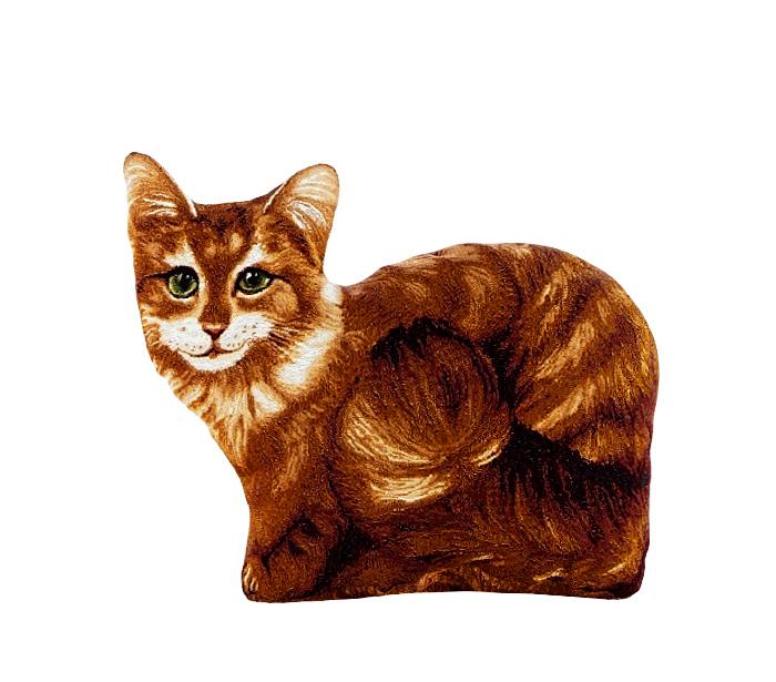 Подушка декоративная Рапира Василиса, 30 х 40 см4635Декоративная гобеленовая подушка в форме кошки.Чехол не снимается.Оборотная сторона гобелен с рисунком шкуры,повторяющим окраску кошки.