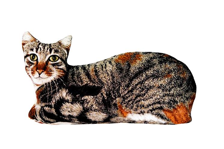 Подушка декоративная Рапира Барсик, 60 х 30 см4639Декоративная гобеленовая подушка в форме кошки.Чехол не снимается.Оборотная сторона гобелен с рисунком шкуры,повторяющим окраску кошки.