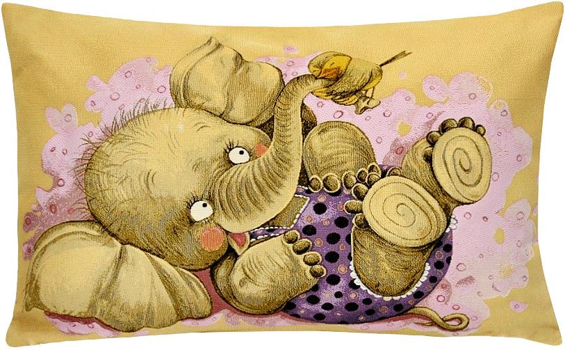 Подушка декоративная Рапира Дружба. Птичка, 50 х 70 см5189Декоративная подушка с наполнителем холлофайбер со съёмным чехлом на молнии, выполненным из жаккарда, - это яркий штрих в интерьере комнаты. Лицевая сторона - гобелен (жаккардовое ткачество), оборотная сторона - однотонная ткань типа плюш.
