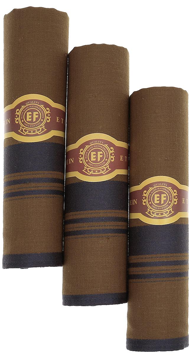 Платок носовой мужской Zlata Korunka, цвет: коричневый, темно-серый, 3 шт. М58В. Размер 43 х 43 смМ58ВМужские носовые платки Zlata Korunka изготовлены из натурального хлопка, приятны в использовании, хорошо стираются, материал не садится и отлично впитывает влагу. В упаковке 3 штуки.