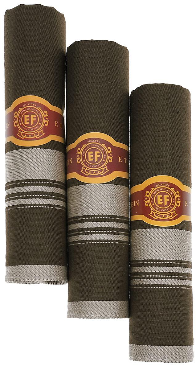 Платок носовой мужской Zlata Korunka, цвет: темно-зеленый, бежевый, 3 шт. М58А. Размер 43 х 43 смМ58АМужские носовые платки Zlata Korunka изготовлены из натурального хлопка, приятны в использовании, хорошо стираются, материал не садится и отлично впитывает влагу. В упаковке 3 штуки.