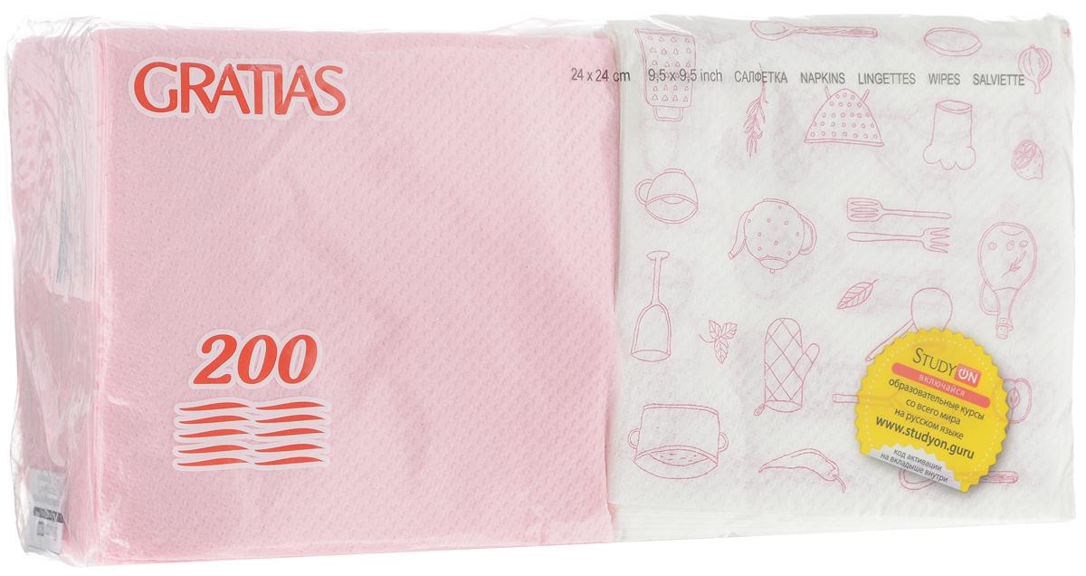 Салфетки бумажные Gratias Биг Пак, однослойные, 24 х 24 см, 200 шт2186Однослойные бумажные салфетки Gratias Биг Пак мягкие, но в то же время прочные. Изделия выполнены из первичного волокна (100% целлюлоза). Они подходят для косметического, санитарно-гигиенического и хозяйственного назначения. Обладают хорошими впитывающими свойствами. Салфетки красиво оформят сервировку стола. Размер салфетки: 24 х 24 см. Количество слоев: 1.