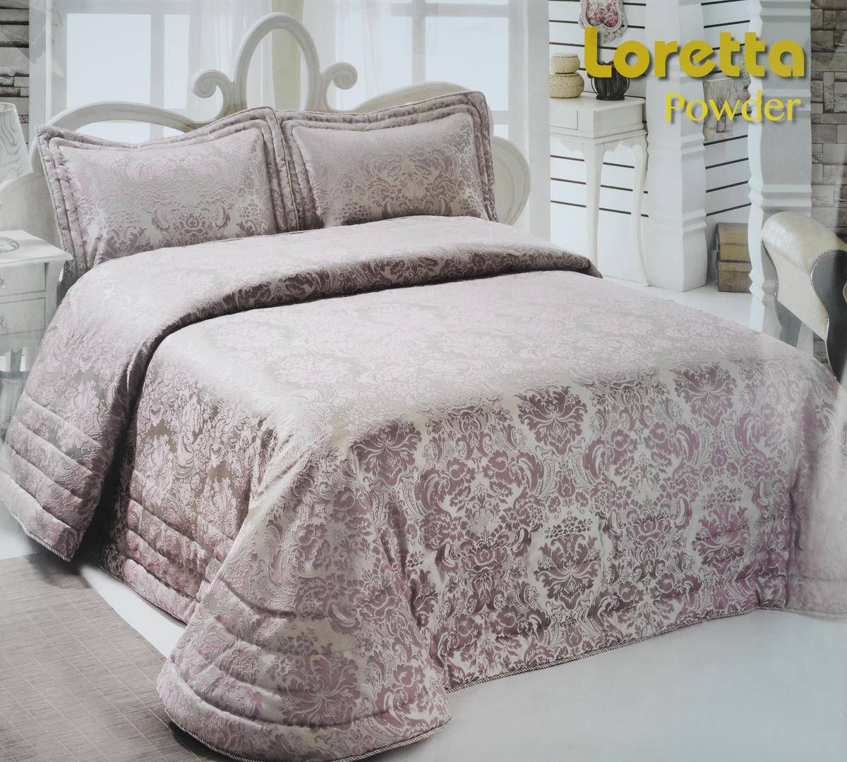 Комплект для спальни Modalin Nazsu. Loretta: покрывало 250 х 270 см, 2 наволочки 50 х 70 см, цвет: пыльная роза2005/CHAR003Изысканный комплект для спальни Modalin Nazsu. Loretta состоит из покрывала и двух наволочек. Изделия выполнены из высококачественного полиэстера и хлопка, легкие, прочные и износостойкие. Ткань блестящая, что придает ей больше роскоши Комплект Modalin Nazsu. Loretta - это отличный способ придать спальне уют и комфорт. Размер покрывала: 250 х 270 см. Размер наволочек: 50 х 70 см.