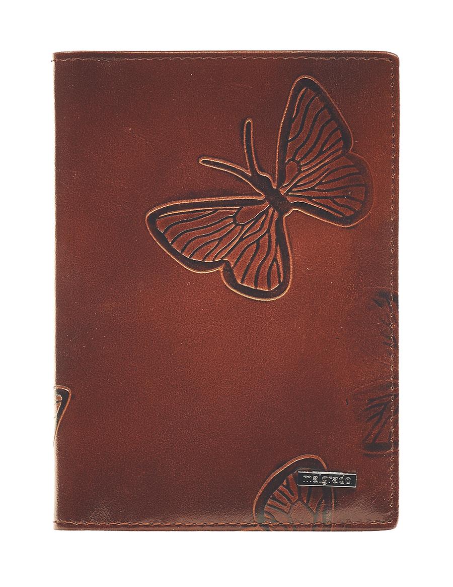 Обложка для паспорта Malgrado, цвет: коричневый. 54019-1-7002D54019-1-7002DСтильная обложка для паспорта Malgrado изготовлена из натуральной кожи коричневого цвета с декоративным тиснением в виде бабочек. Внутри содержит прозрачное пластиковое окно, съемный прозрачный вкладыш для полного комплекта автодокументов, пять отделений для кредитных и дисконтных карт. Обложка упакована в подарочную картонную коробку с логотипом фирмы. Такая обложка станет замечательным подарком человеку, ценящему качественные и практичные вещи. Характеристики: Материал: натуральная кожа, пластик. Размер обложки: 13,5 см х 9,5 см х 1,5 см. Цвет: коричневый. Размер упаковки: 15,5 см х 11,5 см х 3,5 см. Артикул: 54019-1-7001D.