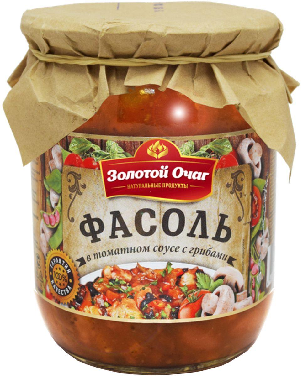 Золотой Очаг фасоль в томатном соусе с грибами, 520 г