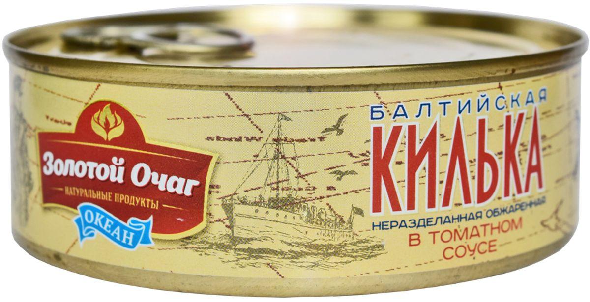 Золотой Очаг килька Балтийская обжареная в томатном соусе, 240 г4607816071031Продукт полностью готов к употреблению.