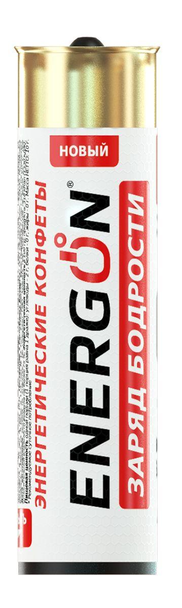 Energon Заряд бодрости энергетические конфеты, 5 шт47050683800009Конфеты ЭНЕРГОН содержат тонизирующий комплекс на основе натурального кофеина из ягод гуараны и листьев зелёного чая: · освежает и заряжает энергией и бодростью · повышает концентрацию внимания, улучшает реакцию · помогает бороться с сонливостью и усталостью Не рекомендуется принимать: Более двух драже в сутке ограничение по возрасту до 18 лет Беременным и кормящим женщинам Лицам страдающим гипертензией Индивидуальная не переносимость компонентов