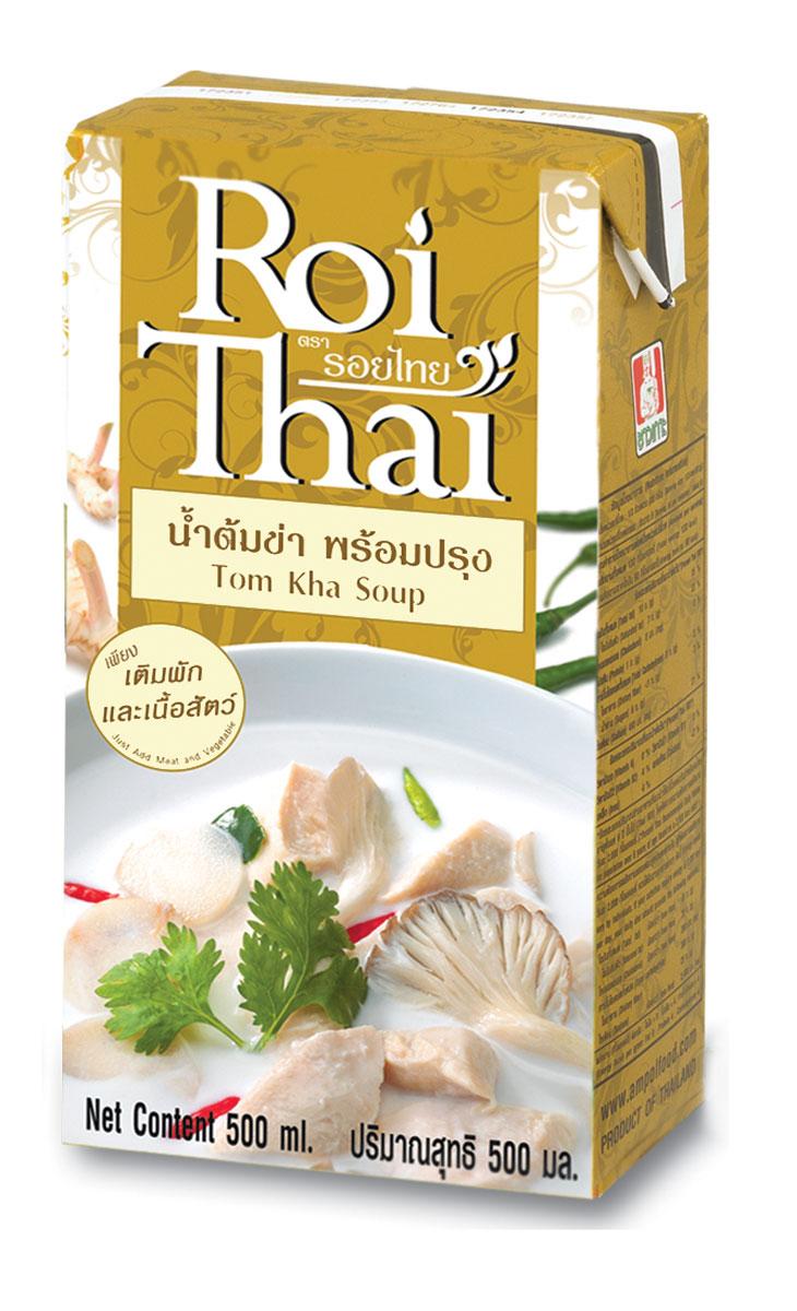 Roi Thai Том Ка основа для супа, 250 мл542897Roi thai curry soup является готовым супом-основой, в котором уже смешаны кокосовое молоко, тайские пасты карри, травы, а также соусы, перечень и количество которых в точности соответствуют рецептуре традиционных тайских блюд. Roi Thai является натуральным продуктом, не содержит консервантов, ароматизаторов и усилителей вкуса. Суп Roi Thai является натуральными продуктом, не является концентратом и НЕ ТРЕБУЕТ разведения водой или другими жидкостями. Если вкус супа покажется вам острым или излишне насыщенным, можно добавить в суп кокосового молока. Он сделает вкус супа более нежным, мягким и сливочным.