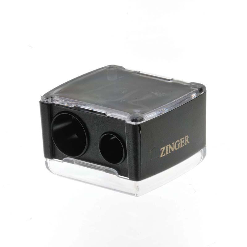 Zinger Точилка двойная zo-SH-223744Точилка подходит для любых видов косметических карандашей. Имеет два диаметра для затачивания. Лезвия изготовлены из высококачественной стали и профессионально заточены