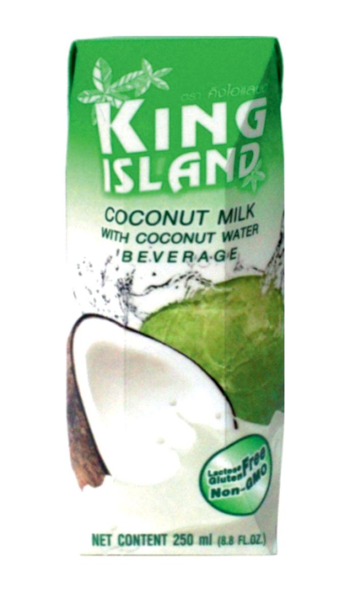King Islamd кокосовый напиток, 250 мл2130020Натуральный микс кокосового молока и кокосовой воды. Этот напиток обладает не только замечательным мягким вкусом. Он вобрал в себя все лучшее, что может дать кокосовый орех. Лауриновая кислота, содержащаяся в кокосе, стабилизирует уровень холестерина в крови, снижая риск возникновения атеросклероза и сердечно-сосудистых заболеваний, а также является антибактериальным, антимикробным, антивирусным и антигрибковым средством. Жиры кокосового молока состоят из средних жирных кислот – триглицеридов, что помогает жиру быстро перерабатываться в энергию, не откладываясь в организме. Кокосовая вода – натуральный изотонический напиток. Утоляет жажду, восстанавливает водный баланс в организме, избавляет от инфекций мочевого пузыря. Она низкокалорийна, способствует нормализации уровня сахара в крови. Натуральный источник минералов: натрий, кальций, железо, магний, фосфор, медь, калий, селен, марганец, цинк, глюкоза. Содержит витамины: С, В-6,В-12, рибофлавин, ниацин, тиамин, пиридоксин, холин,...