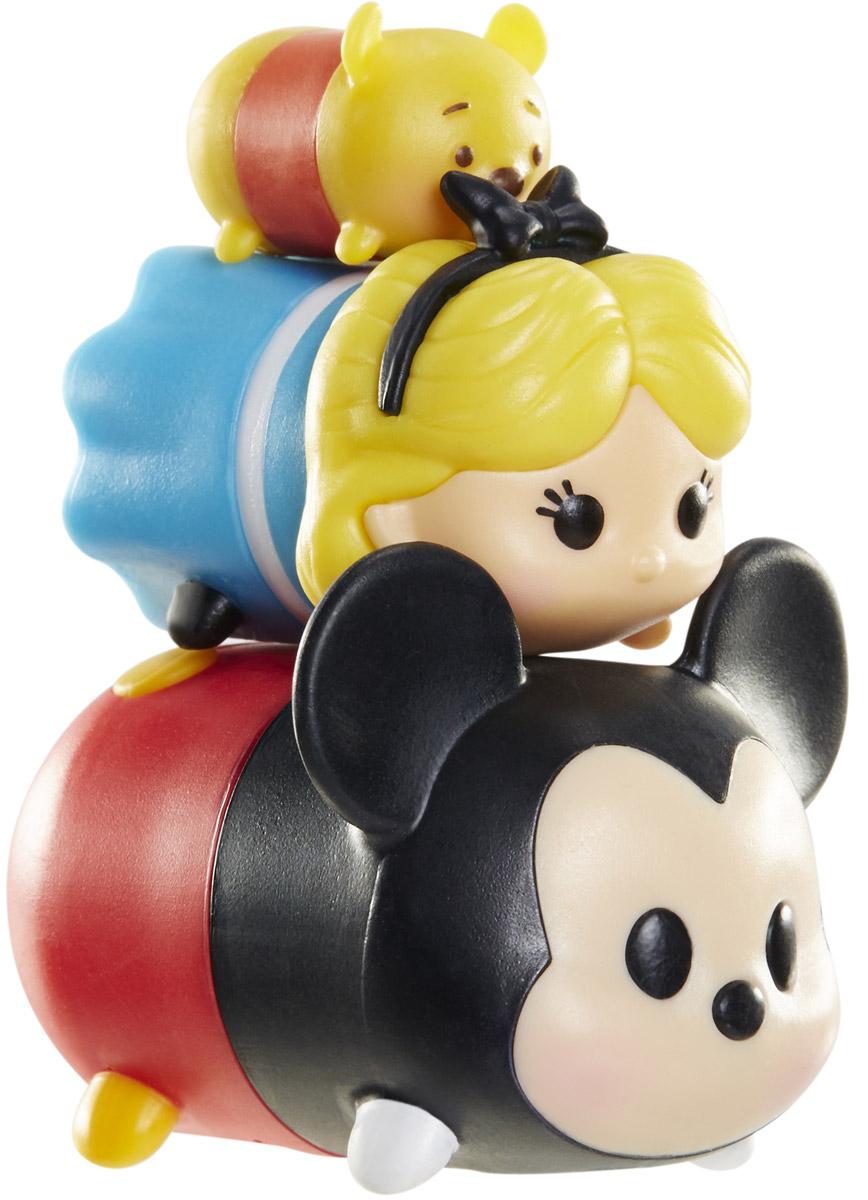 Tsum Tsum Набор фигурок Винни Алиса Микки980080_146/135/103Tsum Tsum - это небольшие коллекционные фигурки, изображающие различных персонажей детских мультфильмов Дисней. Они очень яркие, качественно сделаны и выглядят весьма привлекательно. В набор входят 3 фигурки разных размеров. Отличительной особенностью игрушек является то, что их можно сцеплять друг с другом, усаживая на спины - таким образом, у вас получится подобие оригинальной башенки. Соберите целую коллекцию фигурок! В наборе фигурки под номерами 146, 135, 103.