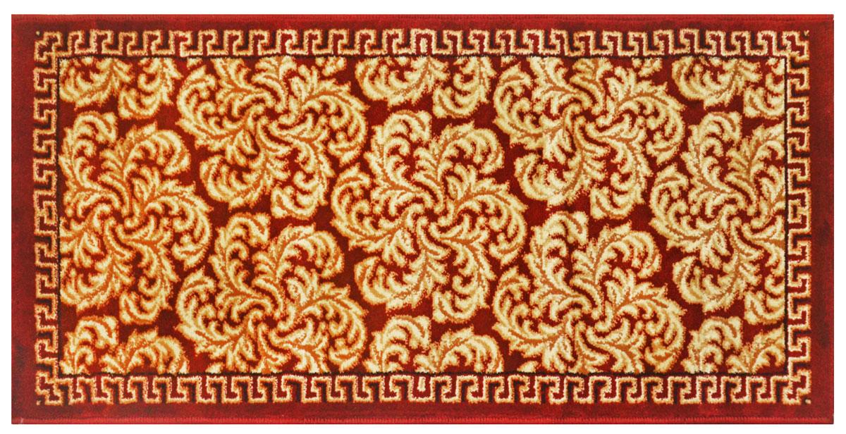 Ковер Kamalak tekstil, прямоугольный, цвет: зеленый, 50 x 100 см. УК-0520УК-0520Ковры-паласы выполнены из полипропилена. Ковры обладают хорошими показателями теплостойкости и шумоизоляции. Являются гиппоалергенными. За счет невысокого ворса ковры легко чистить. Вам придется по душе широкая гамма цветов и возможность гармонично оформить интерьер. Практичный и устойчивый к износу ворс - от постоянного хождения не истирается, не накапливает статическое электричество. Структура волокна в полипропиленовых моделях гладкая, поэтому грязь не может выесться, на ворсе она скапливается с трудом. Полипропилен не впитывает влагу, отталкивает водянистые пятна. Уход: Самый простой способ избавить изделие от грязи – пропылесосить его с обеих сторон (лицевой и изнаночной). Влажная уборка с применением шампуней и моющих средств не противопоказана. Если шерсти и шёлку универсальные чистящие составы не подходят, то для синтетики они придутся в самый раз. Хранить их нужно рулоном, не складывая «салфеткой». При надлежащем уходе синтетический ковёр прослужит долго, не утратив ни...