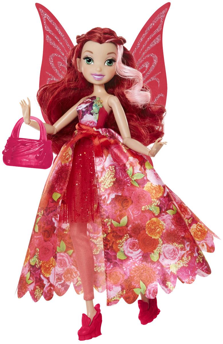 Disney Fairies Кукла Фея Розетта0956660_RosettaКукла Disney Fairies Фея Розетта создана специально для поклонниц мультфильма Феи Дисней. Она одета в яркий, красочный наряд и выглядит очень эффектно. На ногах у куколки - оригинальные красные туфли. У феи красивые густые волосы, убранные в изящную прическу, большие, невероятно выразительные глаза и милое улыбчивое личико. У куклы подвижные руки и ноги, сгибаются кисти и локти, благодаря чему она может принимать самые изящные позы. К кукле прилагается изящная сумочка и крылышки с блестками.