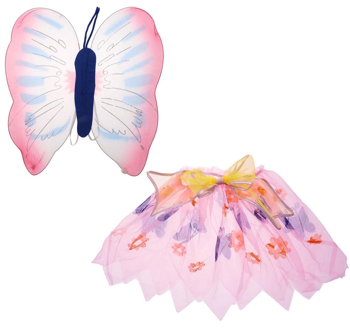 Rio Крылья карнавальные Бабочка цвет синий розовый