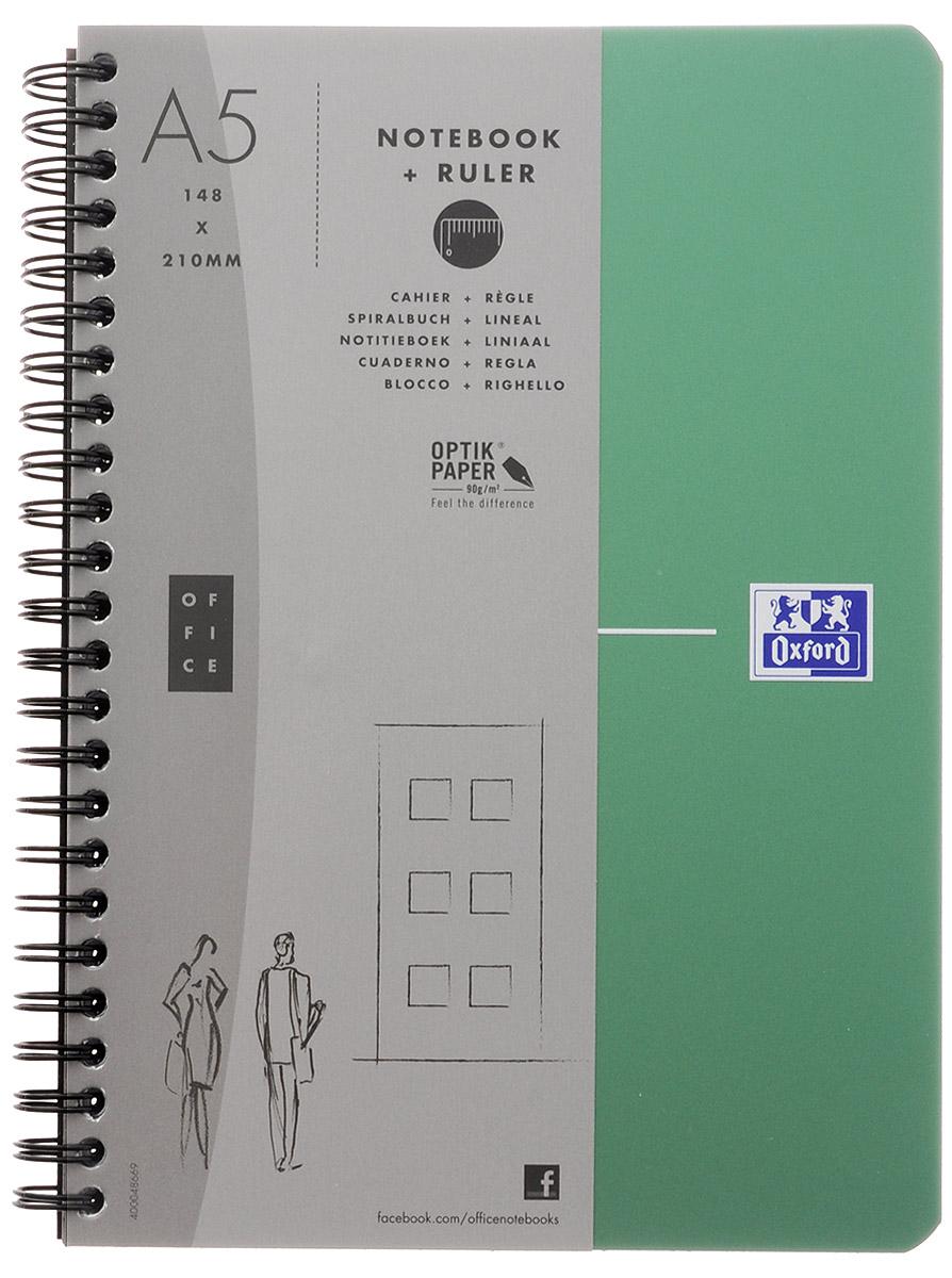 Oxford Тетрадь Urban Mix 90 листов в линейку цвет зеленый817865_зеленыйКрасивая и практичная тетрадь Oxford Urban Mix отлично подойдет для офиса и учебы. Тетрадь формата А5 состоит из 90 белых листов с четкой яркой линовкой в клетку. Обложка тетради выполнена из плотного полипропилена и оформлена символом Оксфордского университета. Двойная спираль надежно удерживает листы. Также тетрадь имеет скругленные углы и гибкую съемную закладку-линейку из матового полупрозрачного пластика с изображением Лондона.