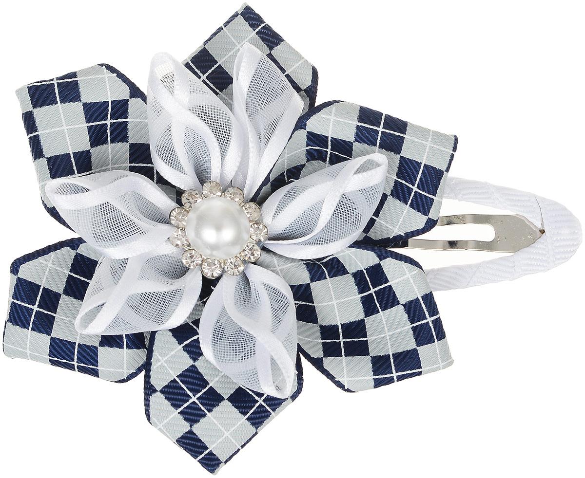 Babys Joy Зажим для волос Клетка цвет белый серый синий AL 995AL 995_белый бант, серо/синяя клеткаЗажим для волос Babys Joy выполнен из металла и украшен текстильным цветком. Цветок состоит из двух лент - репсовой и капроновой и декорирован жемчужной бусиной и стразами. Зажим позволит убрать непослушные волосы с лица и придаст образу романтичности и очарования. Зажим для волос Babys Joy подчеркнет уникальность вашей маленькой модницы и станет прекрасным дополнением к ее неповторимому стилю.