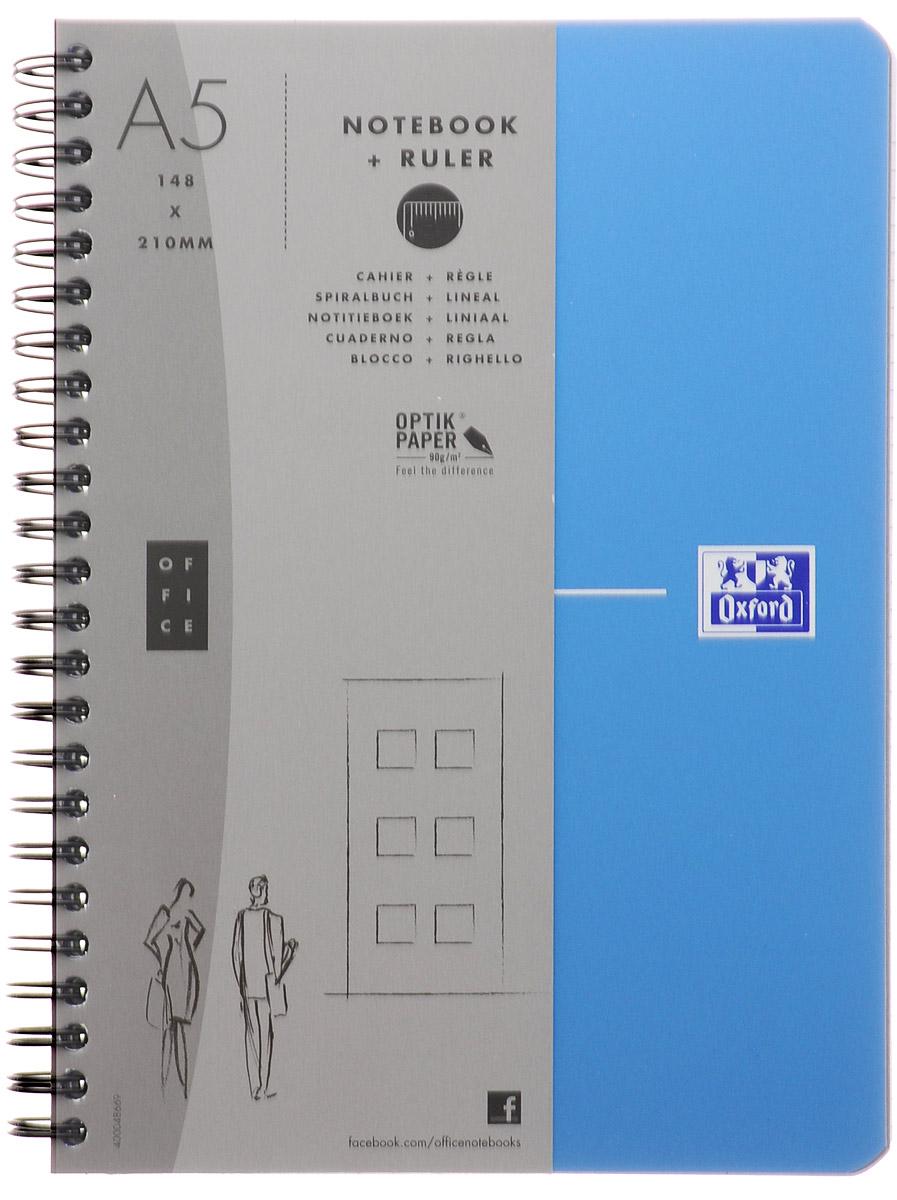 Oxford Тетрадь Urban Mix 90 листов в линейку цвет голубой817865_голубойКрасивая и практичная тетрадь Oxford Urban Mix отлично подойдет для офиса и учебы. Тетрадь формата А5 состоит из 90 белых листов с четкой яркой линовкой в клетку. Обложка тетради выполнена из плотного полипропилена и оформлена символом Оксфордского университета. Двойная спираль надежно удерживает листы. Также тетрадь имеет скругленные углы и гибкую съемную закладку-линейку из матового полупрозрачного пластика с изображением Лондона.