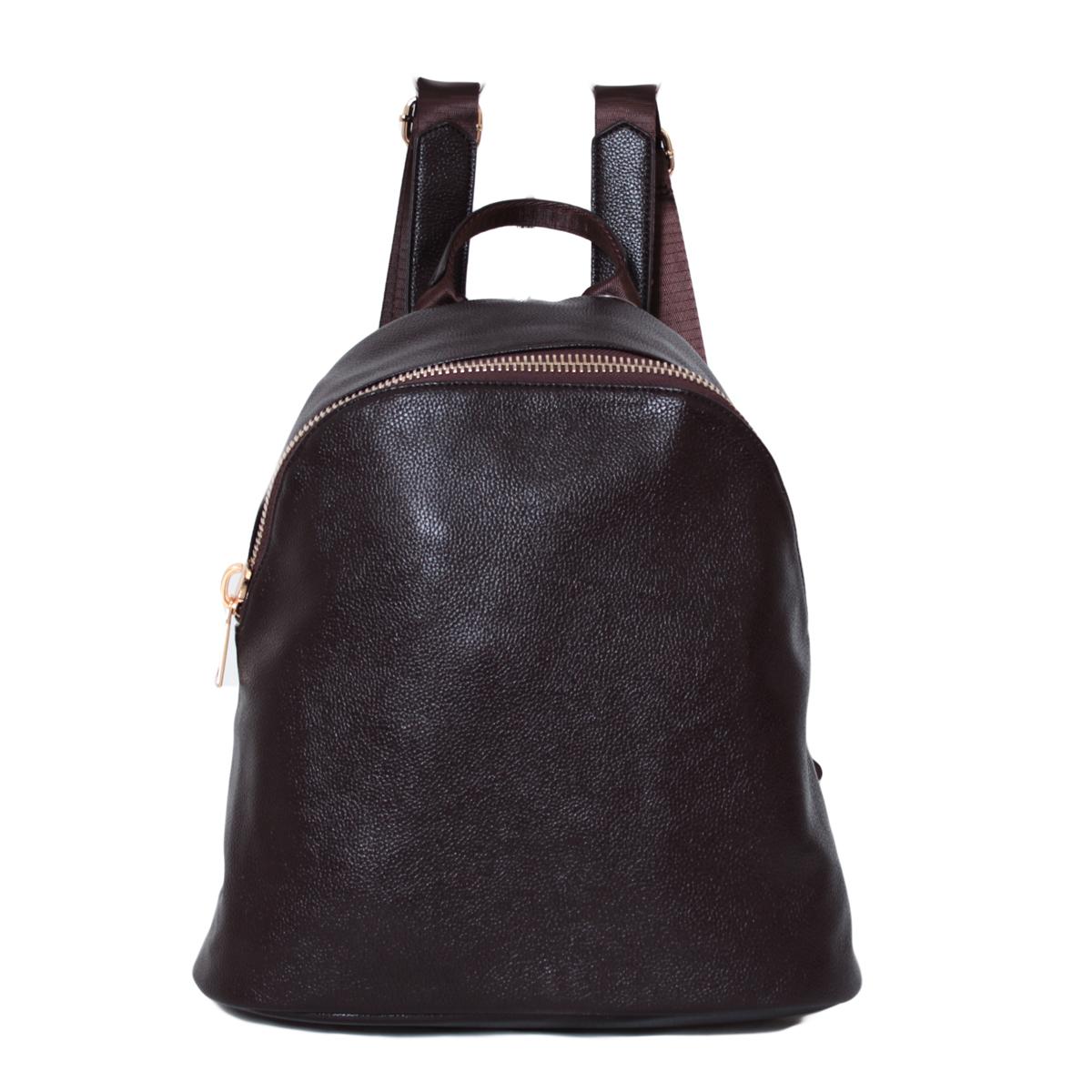 Рюкзак женский Flioraj, цвет: коричневый. 0005265400052654Закрывается на молнию. Внутри одно отделение, один карман на молнии, два открытых кармана. Снаружи один карман на молнии. Высота ручки - 8 см