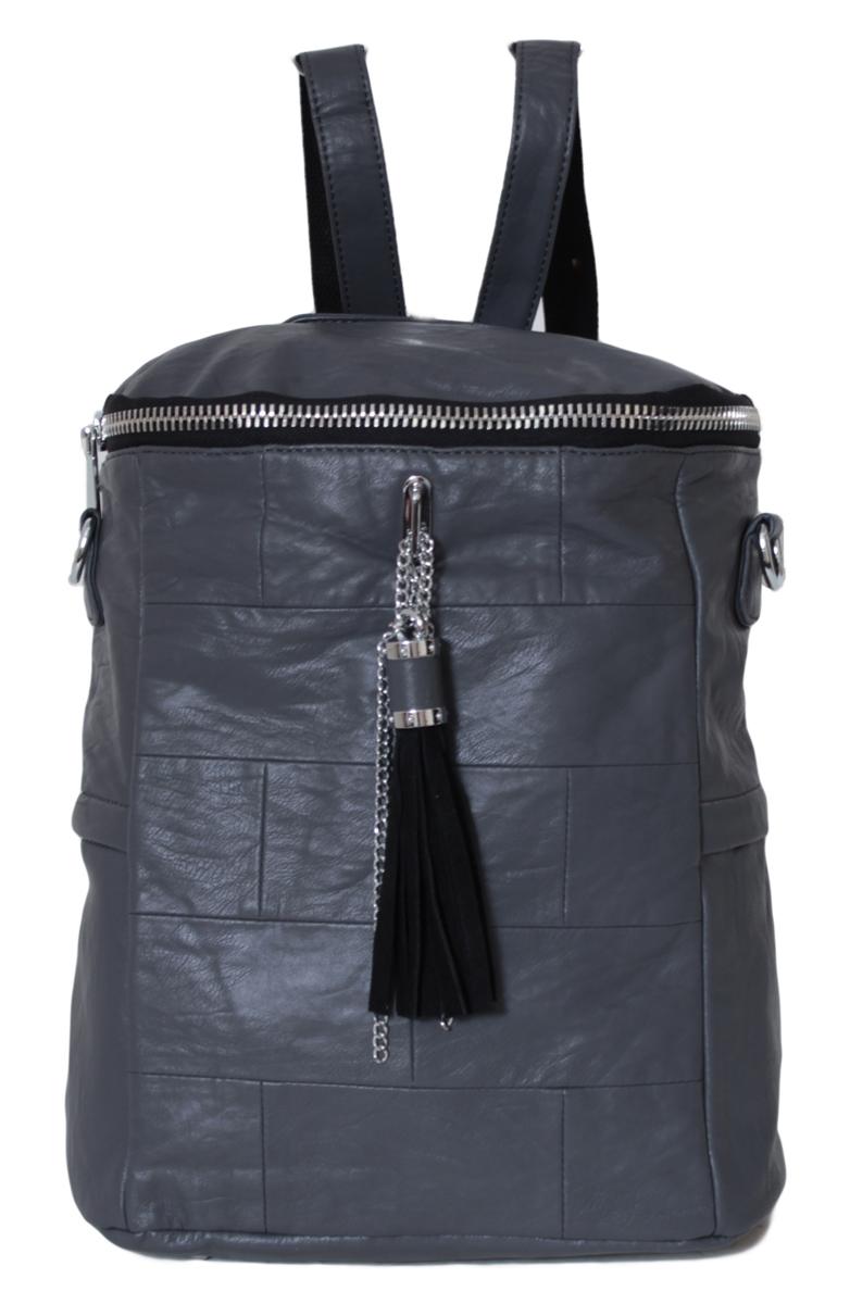 Рюкзак женский Flioraj, цвет: серый. 0005265600052656Рюкзак закрывается на молнию, имеет два боковых кармана, внутри одно отделение, один карман на молнии и два открытых кармана.