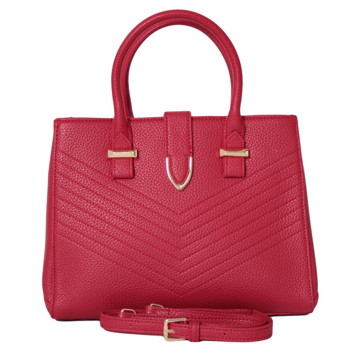 Сумка женская Flioraj, цвет: красный. 0005270900052709Закрывается на молнию, Внутри два отделения, два кармана на молнии и два открытых. На задней стенке карман на молнии. Есть длинный ремень.