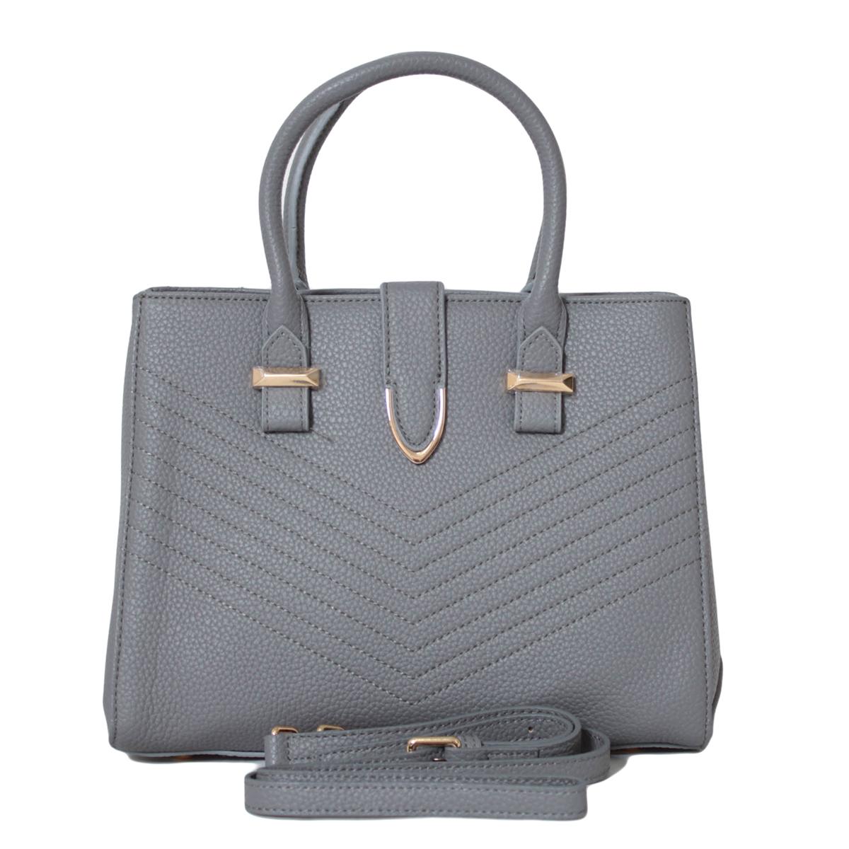 Сумка женская Flioraj, цвет: серый. 0005271000052710Закрывается на молнию, Внутри два отделения, два кармана на молнии и два открытых. На задней стенке карман на молнии. Есть длинный ремень.