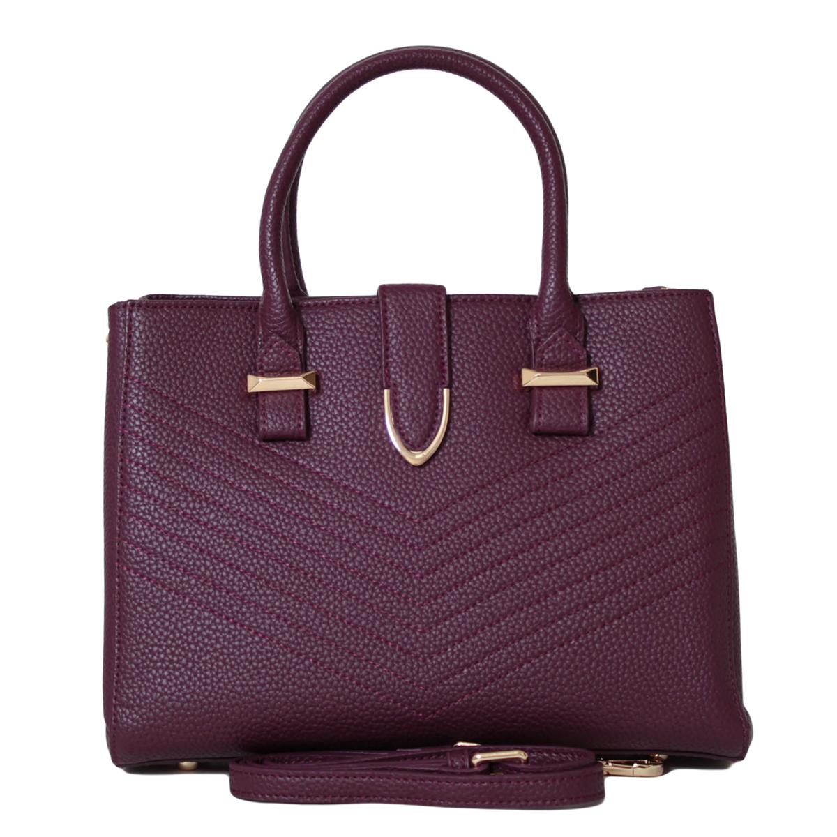 Сумка женская Flioraj, цвет: фиолетовый. 0005271200052712Закрывается на молнию, Внутри два отделения, два кармана на молнии и два открытых. На задней стенке карман на молнии. Есть длинный ремень.