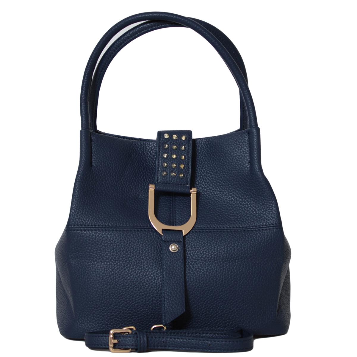 Сумка женская Flioraj, цвет: синий. 0005271700052717Закрывается на клапан. Внутри одно отделение, один карман на молнии и два открытых кармана. Есть длинный ремень.
